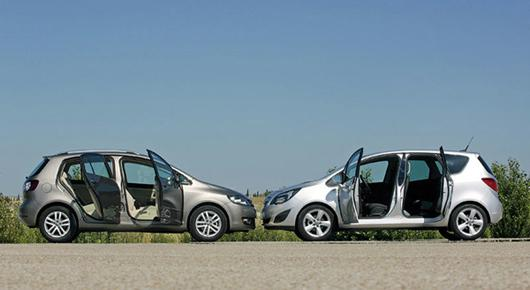 Opel Meriva vs Vоlkswagen Golf Plus